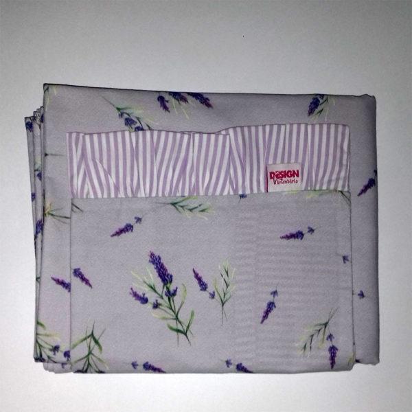 cj lençol e fronha lilás
